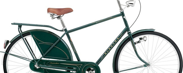 electra amsterdam bicycle in green
