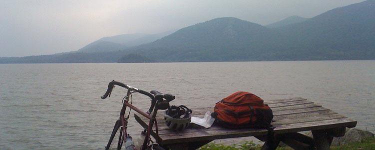 epic bike ride, scene along the hudson